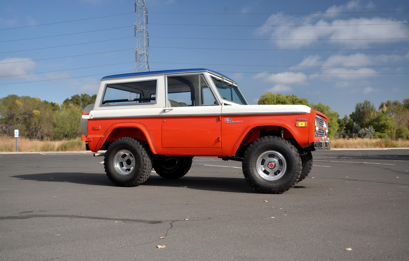 Photo wallpaper Ford, 1971, side, Wagon, Bronco, Baja Edition, Stroppe
