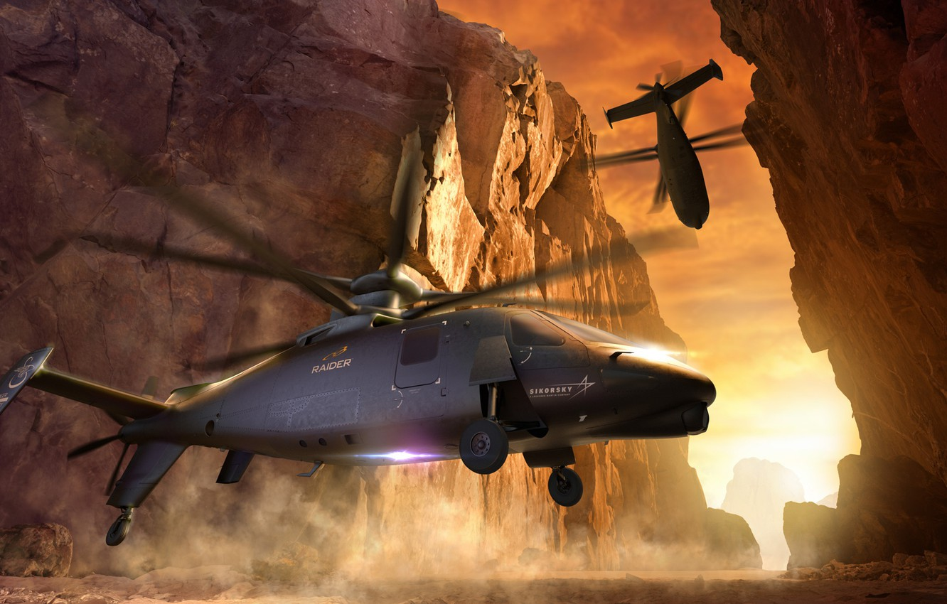 Photo wallpaper Sikorsky, reconnaissance helicopter, S-97 RAIDER