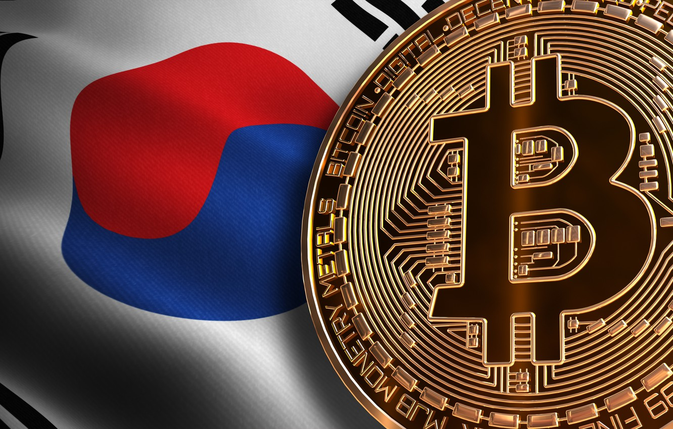 Photo wallpaper flag, flag, South Korea, south korea, bitcoin, bitcoin, btc