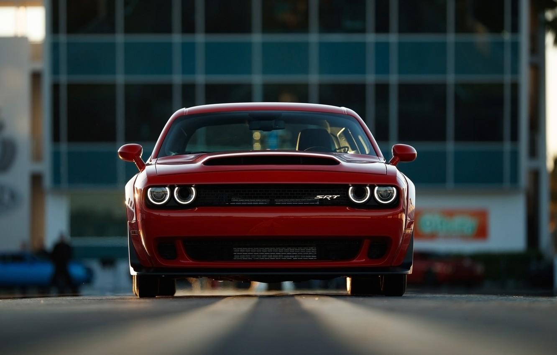 Photo wallpaper Muscle, Dodge Challenger, SRT, Demon, Vehicle