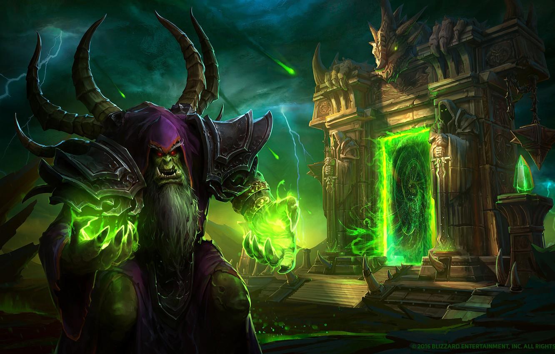 Wallpaper Blizzard Orc Warcraft Warlock Gul Dan Guldan From