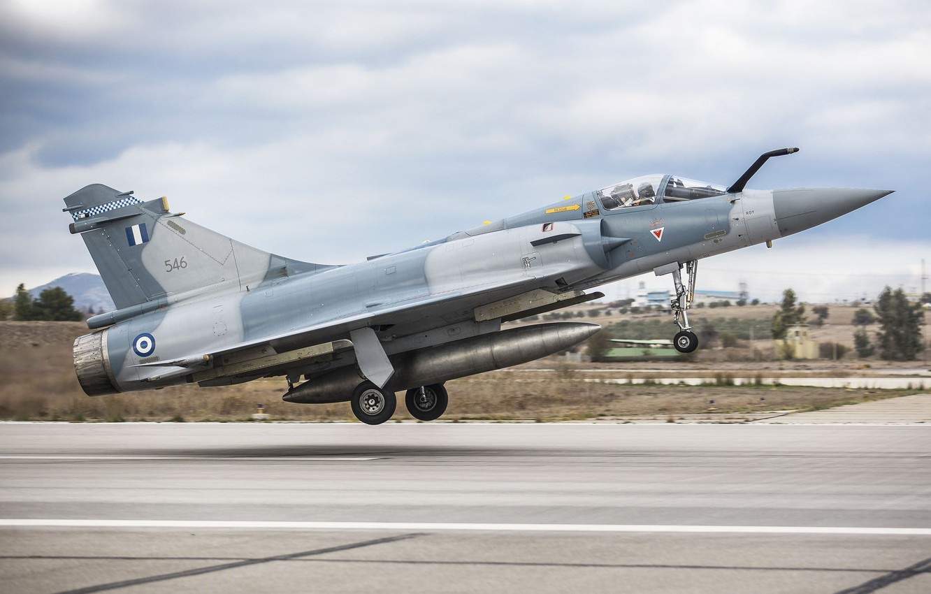 Wallpaper Fighter, Landing, Mirage 2000, Chassis, Greek air force, Hellenic  Air Force, Dassault Mirage 2000, Dassault Mirage 2000-5EG images for  desktop, section авиация - download