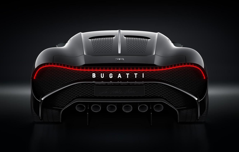 Photo wallpaper machine, Bugatti, lantern, stylish, hypercar, The Black Car