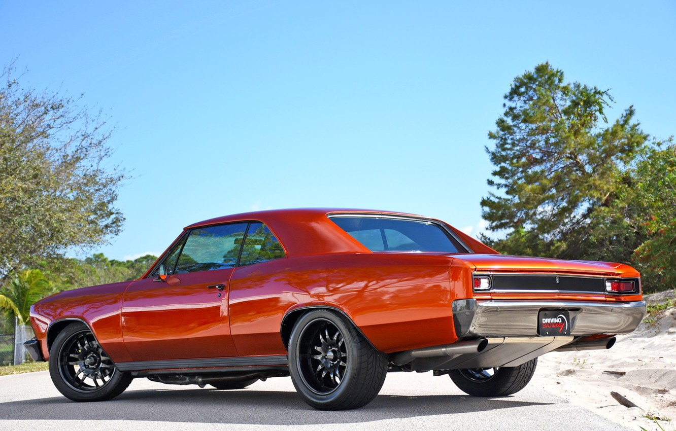 Photo wallpaper Muscle, Car, Coupe, Chevy, Chevelle, Chevelle SS