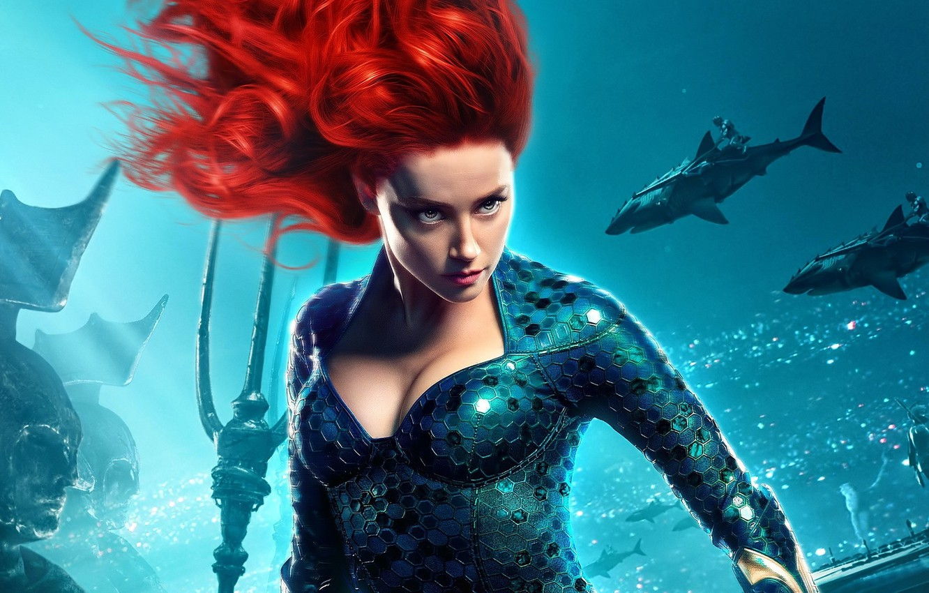 Photo wallpaper look, girl, the ocean, Aquaman, fantasy