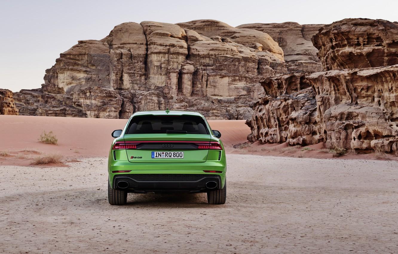 Photo wallpaper Audi, desert, rear view, crossover, 2020, RS Q8