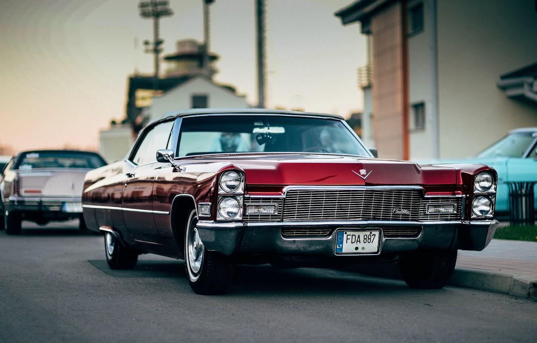 Photo wallpaper Cadillac, Red, Vehicle