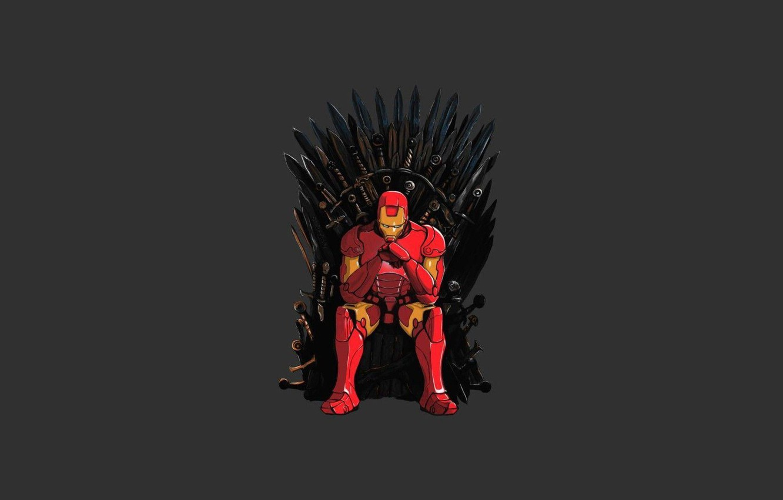 Wallpaper Game Of Thrones Iron Man Tony Stark Iron Throne