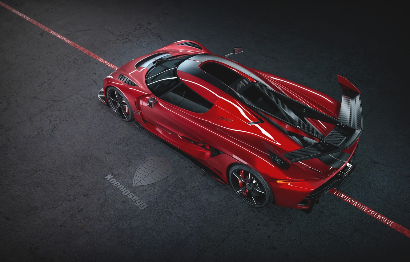 Photo wallpaper Koenigsegg, supercar, hypercar, 2019, Jesko, 1600 HP, Cherry Red Edition