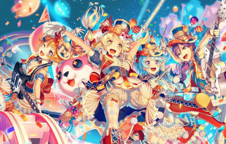 Photo wallpaper music, girls, anime, Bang Dream!