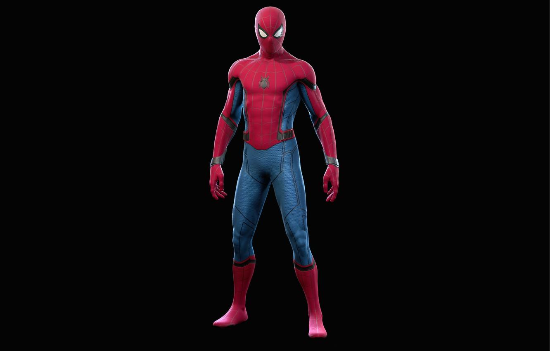 Photo wallpaper spider-man, spider-man, suit, costume stark