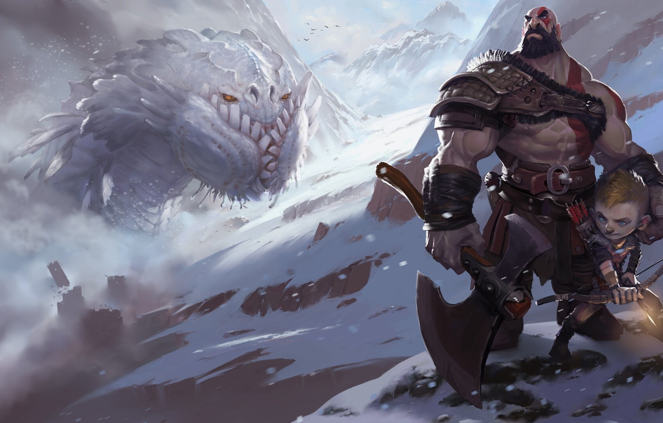 Wallpaper Fantasy Kratos God Of War Kratos Illustration