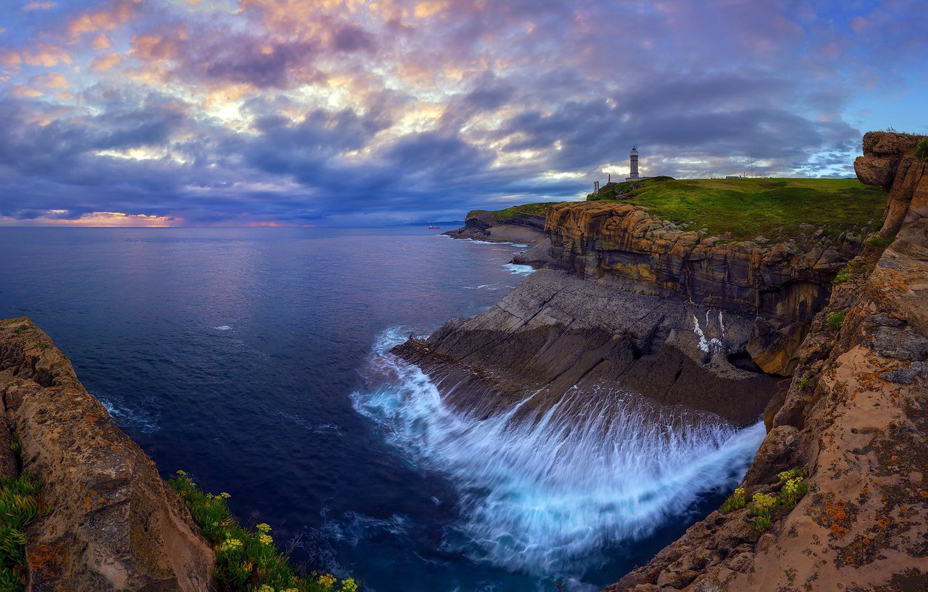 Photo wallpaper lighthouse, Faro, Santander, Out More