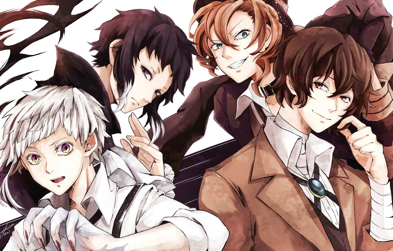 Wallpaper Group Anime Art Guys Characters Bungou Stray Dogs