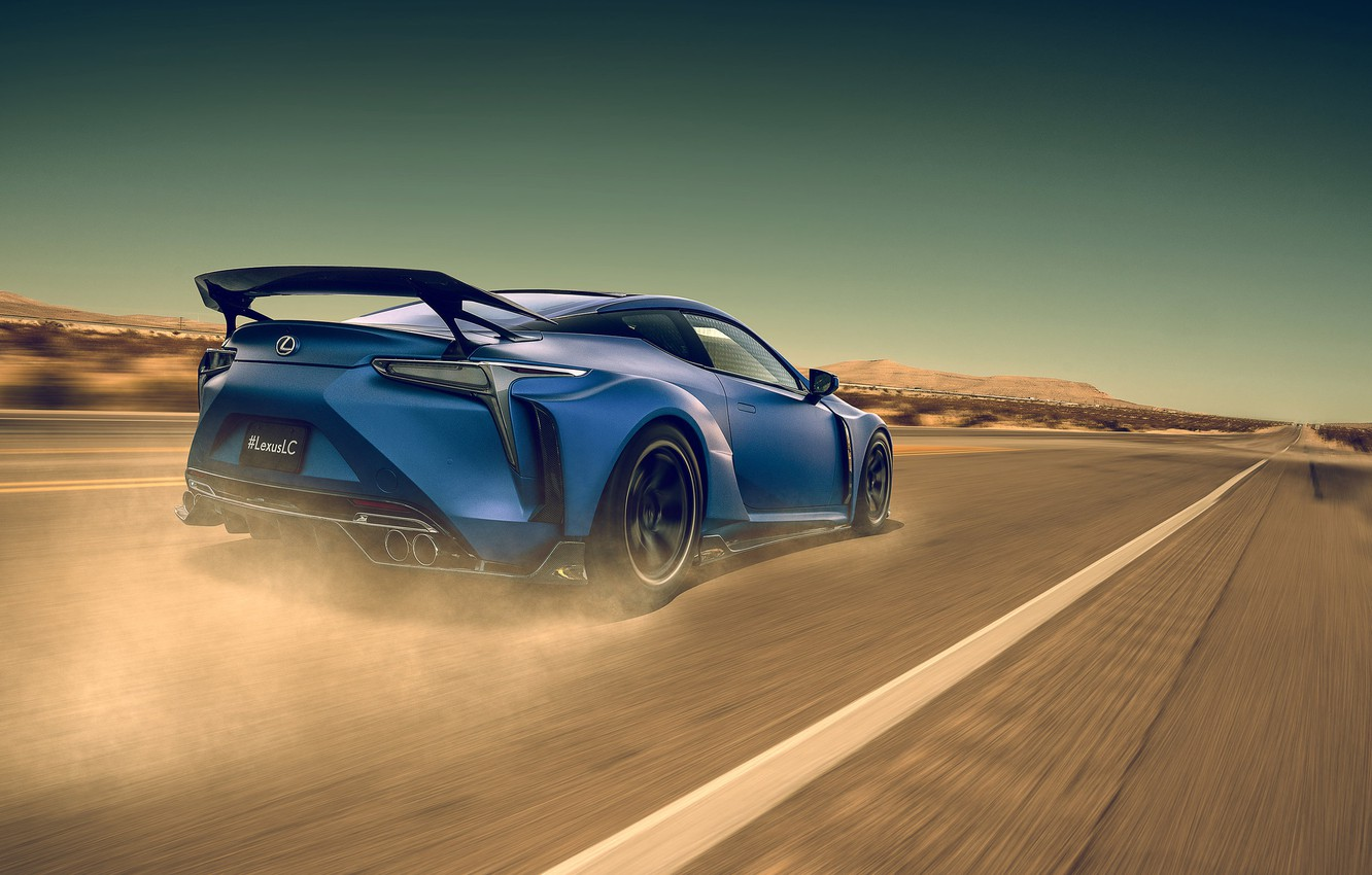 Photo wallpaper Lexus, Car, Blue, Sport, LC