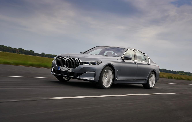 Photo wallpaper markup, BMW, sedan, four-door, G12, G11, 2020, 7, 7-series, 2019, full-size