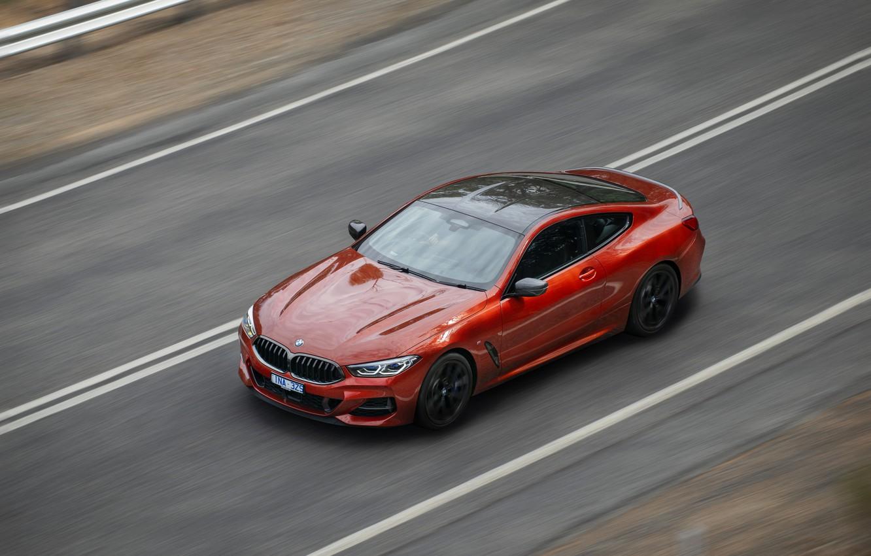 Photo wallpaper movement, coupe, speed, BMW, 2018, 8-Series, 2019, dark orange, M850i xDrive, Eight, G15