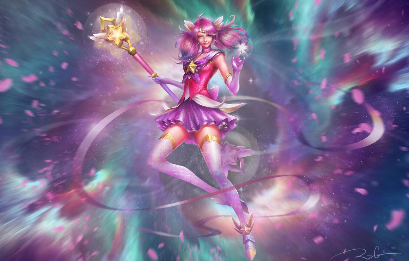 Wallpaper Girl League Of Legends Lux Images For Desktop Section