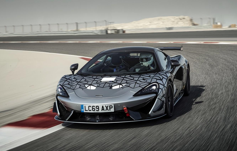 Photo wallpaper coupe, McLaren, turn, 2020, V8 twin-turbo, 620R, 620 HP, 3.8 L.