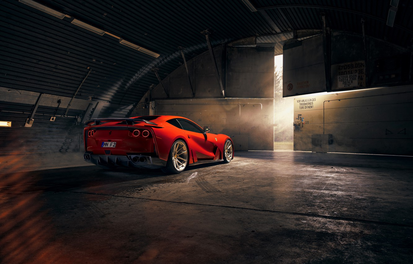 Photo wallpaper lights, Ferrari, sports car, Superfast, 812, Novitec N-Largo