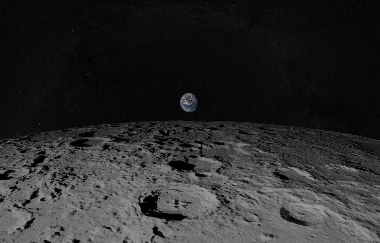 Photo wallpaper earth, the moon, planet