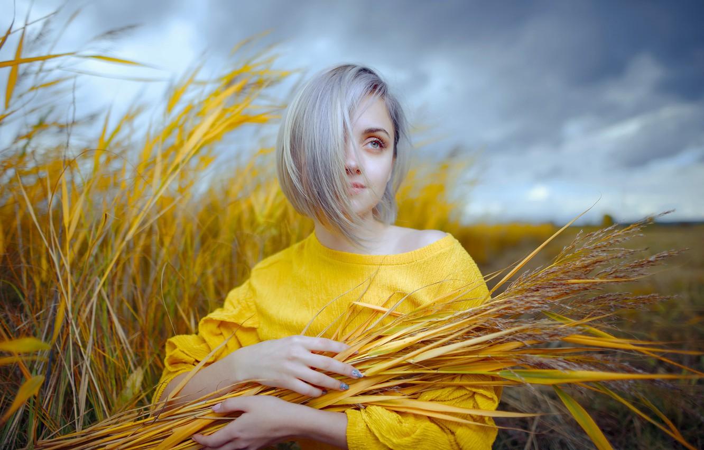 Photo wallpaper girl, nature, portrait