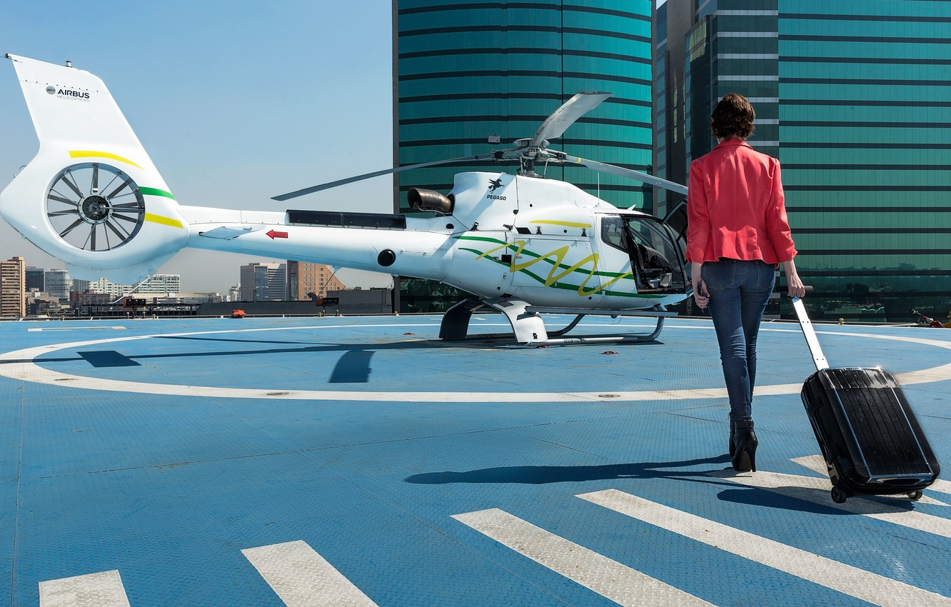 Photo wallpaper Airbus Helicopters, Mexico City, Mexico city, helicopter taxi, helicopter air-taxi