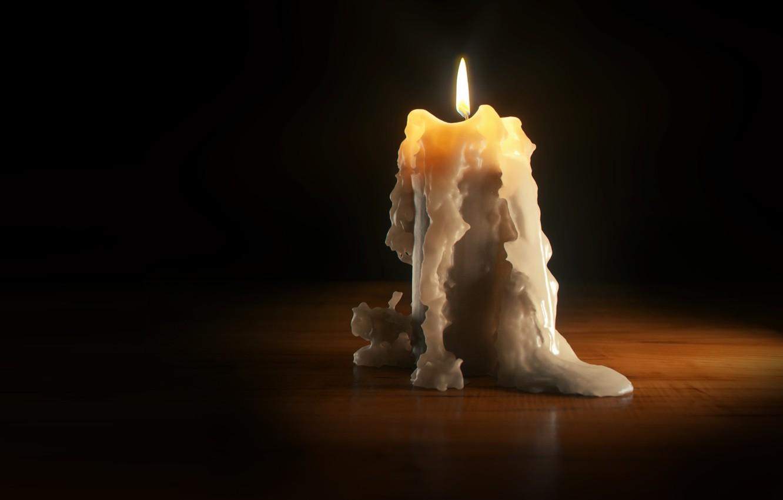 Photo wallpaper flame, candle, art, wax, candle, Daniel Klepek
