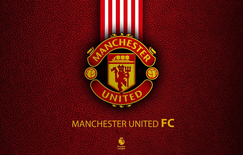 Photo wallpaper Logo, Football, Manchester United, Soccer, Emblem, English Club
