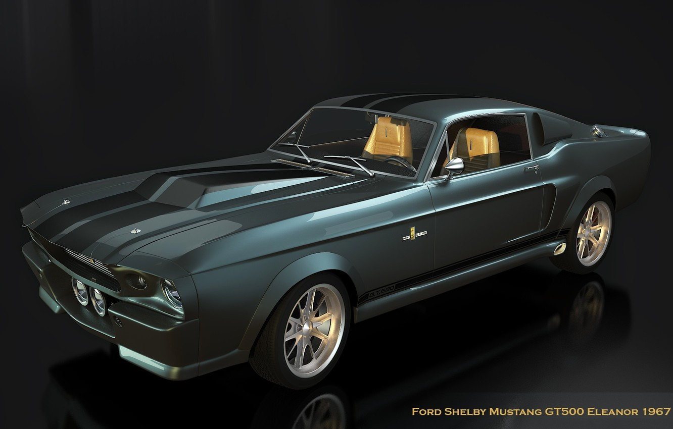 Photo wallpaper retro, Mustang, Ford, Shelby, 1967, Leanor