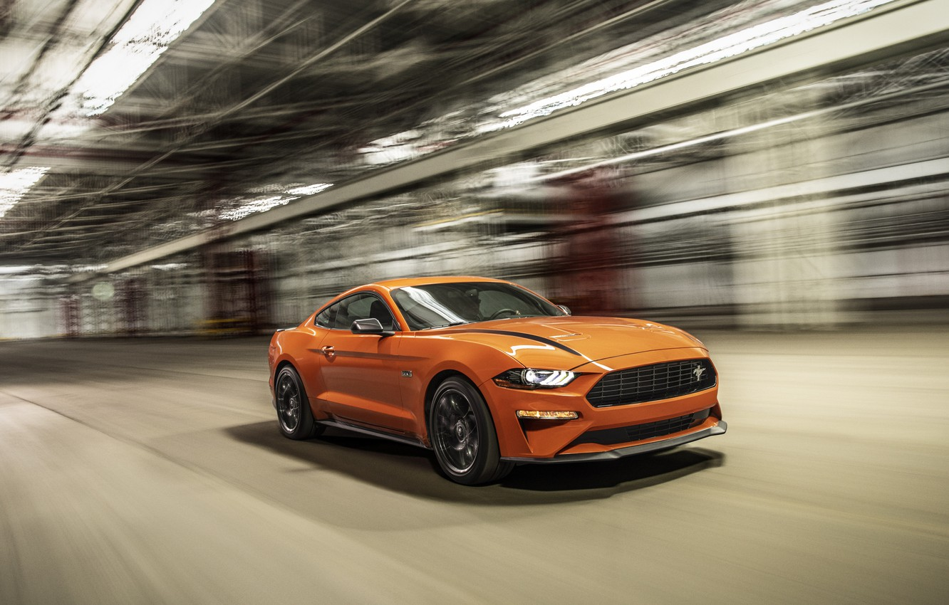 Photo wallpaper Mustang, Ford, EcoBoost, 2020, High Performance Package
