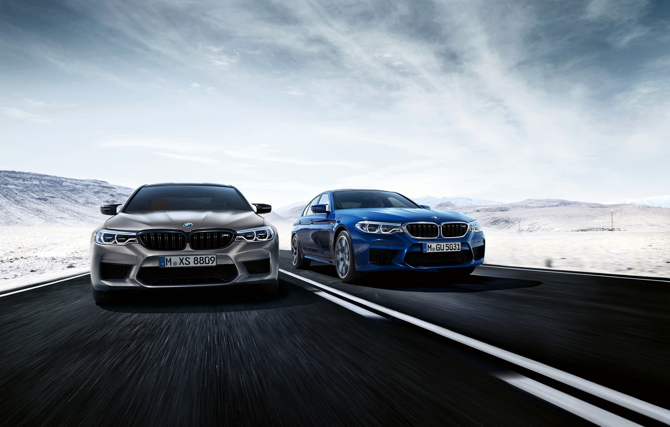 Photo wallpaper road, BMW, 2018, M5, V8, F90, M5 Competition