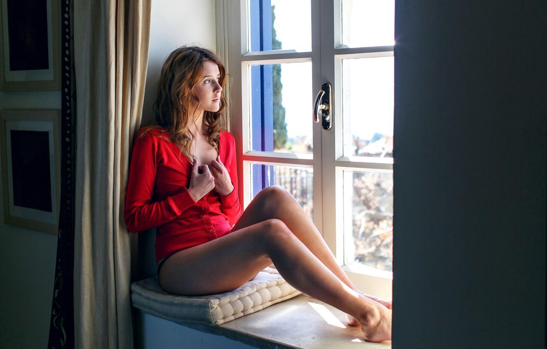 Photo wallpaper girl, sweetheart, model, girl, long hair, Sybil, aka Sybil A, aka Sybil Kailena, sitting at …