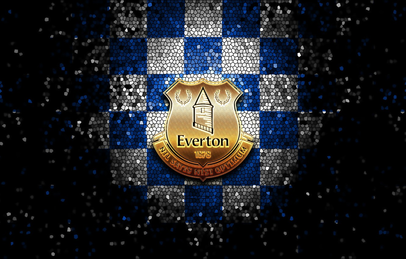 Wallpaper Wallpaper Sport Logo Football Everton Glitter Checkered Images For Desktop Section Sport Download