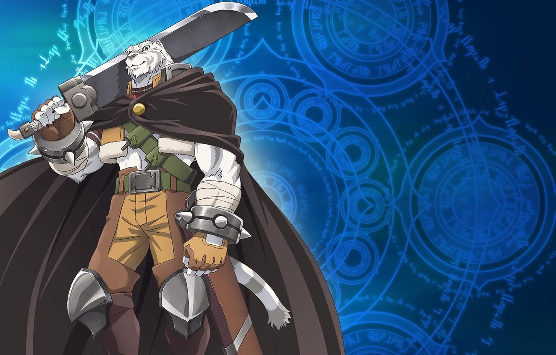 Wallpaper Anime Tiger Art Sword Grimoire Of Zero Book
