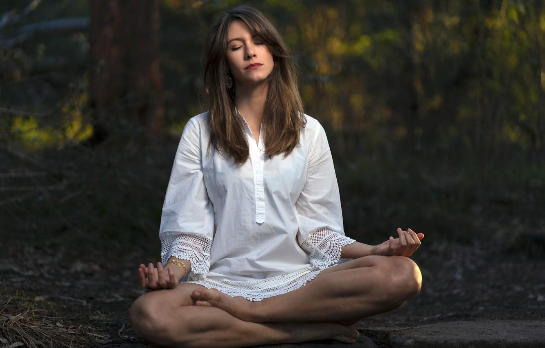 Photo wallpaper girl, ritual, prayer