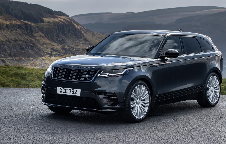 Photo wallpaper auto, mountains, rock, road, range rover, mountain, asphalt, 2021, crossover premium, velar r dynamic d300 …