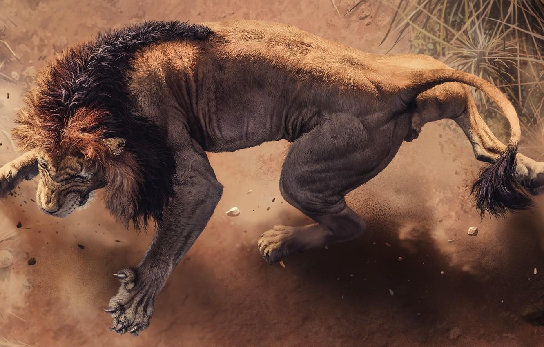 Photo wallpaper Leo, Mane, Claws, Lion, Africa s deadliest, Predators Of Africa