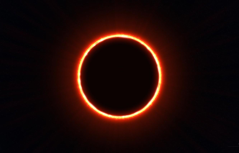Photo wallpaper eclipse, stars, sun