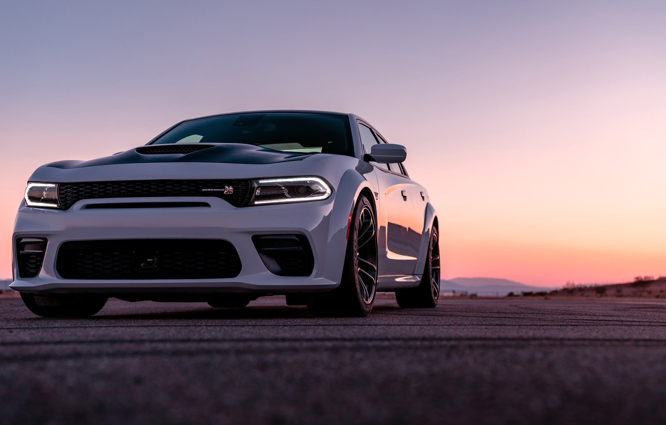 Photo wallpaper sunset, the evening, Dodge, Charger, Widebody, Scat Pack, 2020