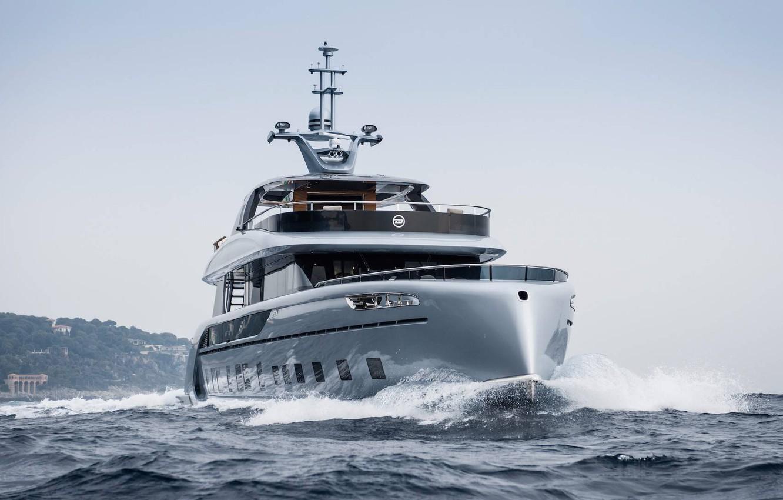 Photo wallpaper sea, yacht, porsche, yacht