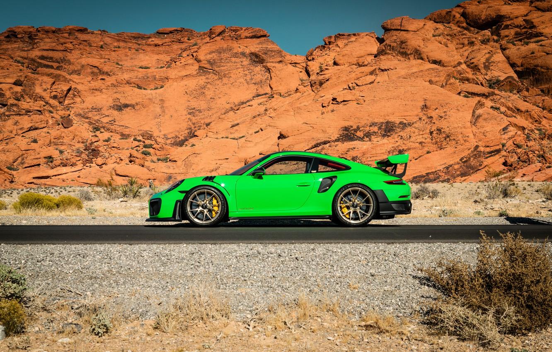 Photo wallpaper 911, Porsche, Green, GT3, VAG, Canyon