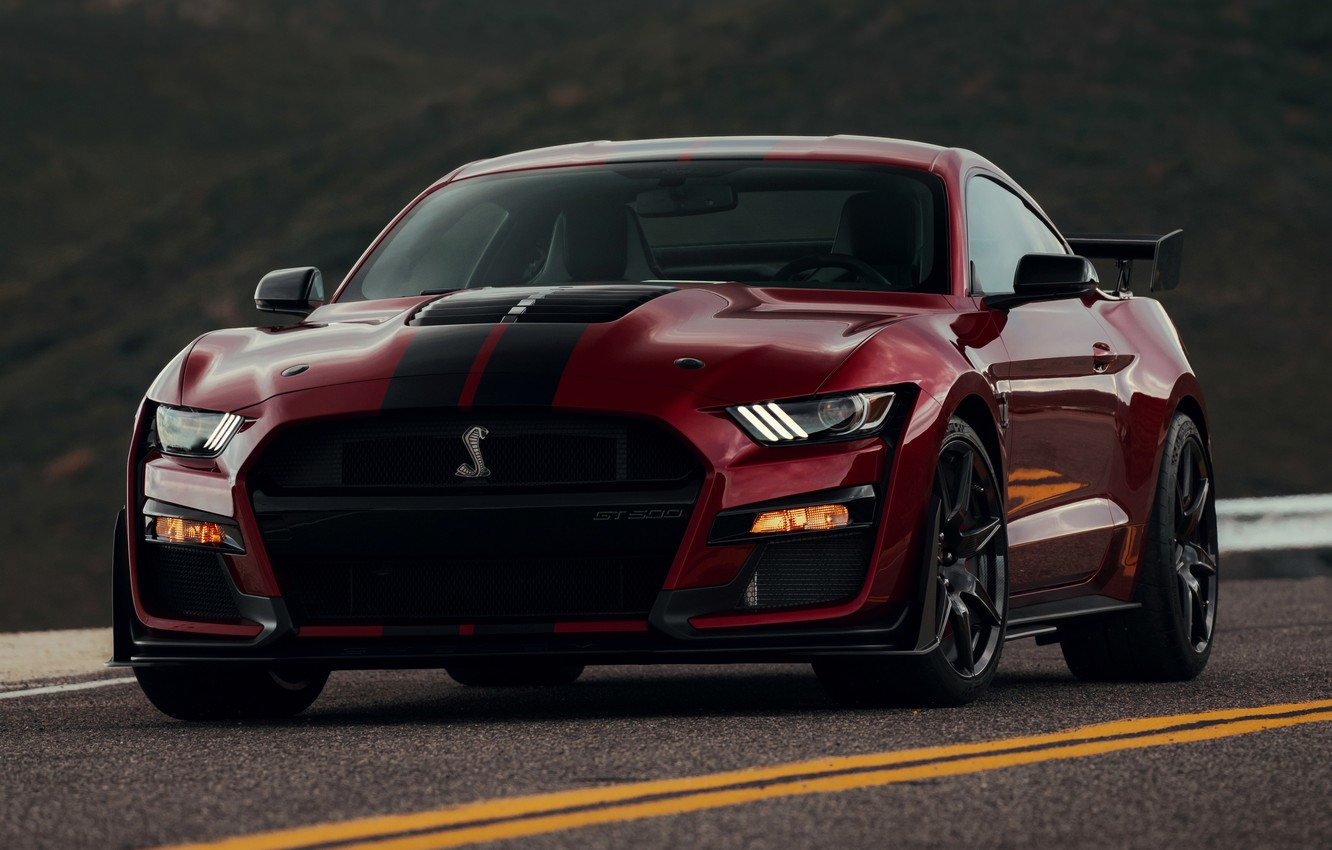 Photo wallpaper markup, Mustang, Ford, Shelby, GT500, bloody, 2019