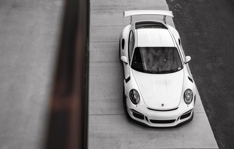 Photo wallpaper 911, Porsche, White, GT3RS, VAG