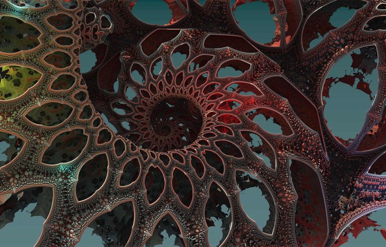 Photo wallpaper pattern, the volume, curl