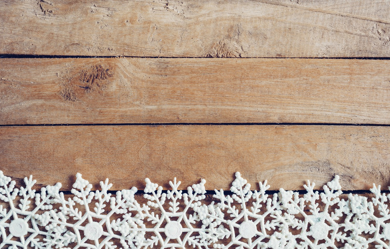 Photo wallpaper winter, snowflakes, tree, Board, New Year, new year, wood, winter, background, snowflakes