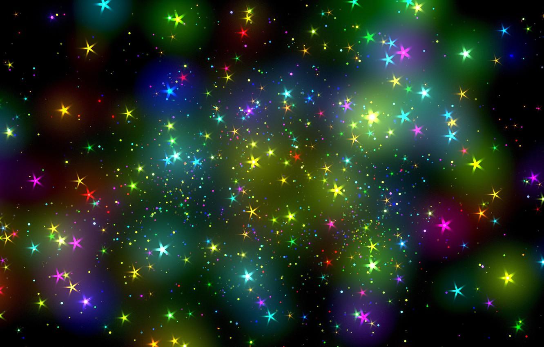Photo wallpaper stars, abstraction, glare