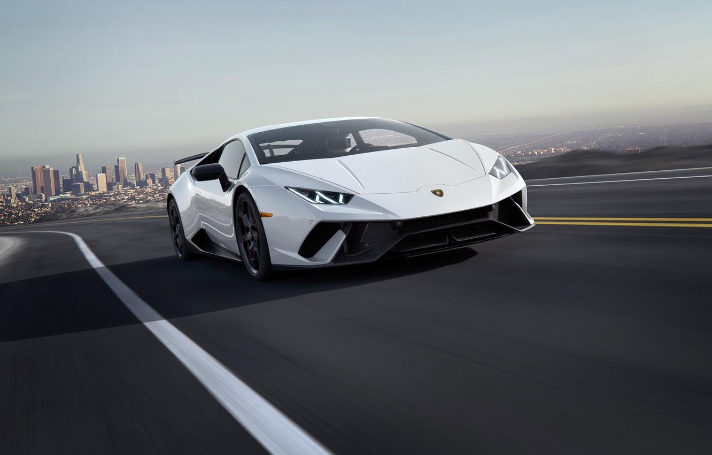 Photo wallpaper speed, Lamborghini, supercar, 2018, CGI, Performante, Huracan