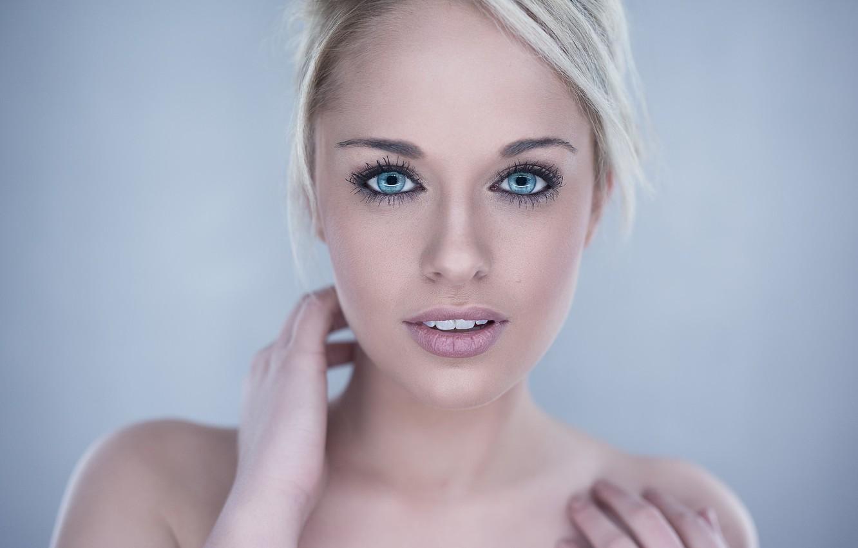 Photo wallpaper eyes, girl, sweetheart, blue, blonde, girl, beautiful, blue, eyes, beautiful, blonde, cute