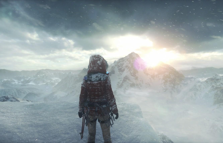 Wallpaper Square Enix Lara Croft Siberia Rise Of The Tomb